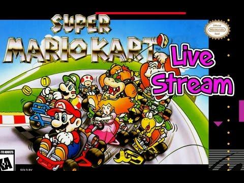 Super Mario Kart (SNES) Live Stream. Mario Kart GP - Live Stream W/ Gemma