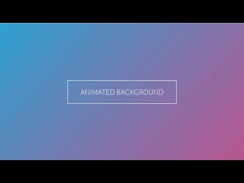 Pure CSS Animated Gradient Background | HTML And CSS Tutorial