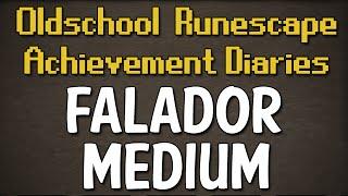 Falador Medium Achievement Diary Guide | Oldschool Runescape