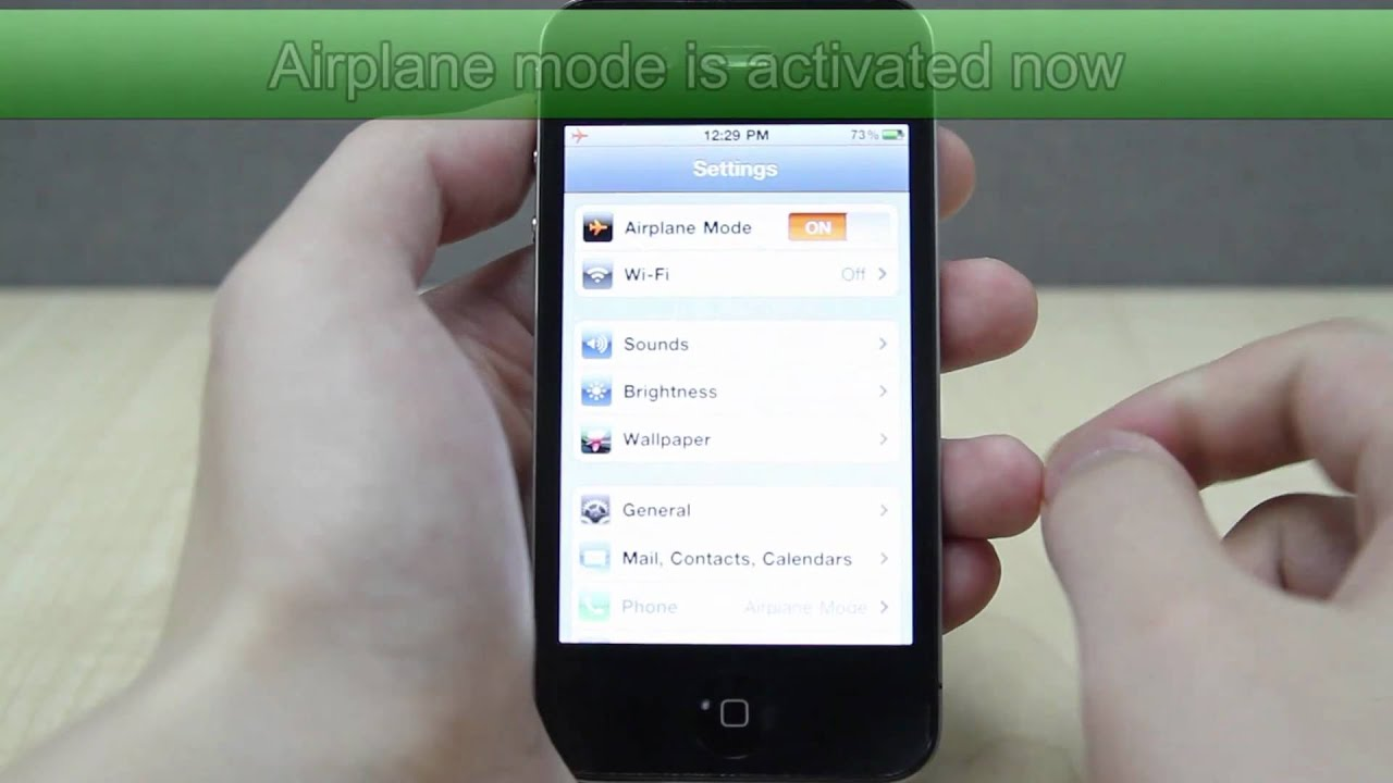 airplane mode iphone how to turn on airplane mode on apple iphone 4 10048