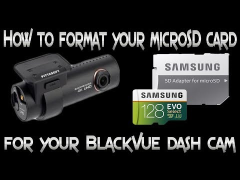 How To Format Your MicroSD Card For Your BlackVue Dash Camera