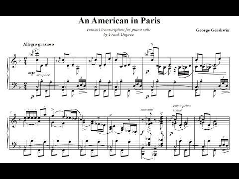 Gershwin | An American in Paris | Piano Version by Frank Dupree (1)
