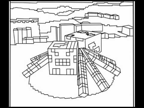 Resource image for free printable minecraft coloring pages