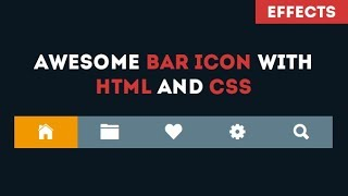 Awesome Bar icon With Only html and css