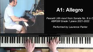 A:1 Allegro (ABRSM Grade 6 piano 2021-2022)