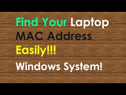 how to see your mac address windows 10
