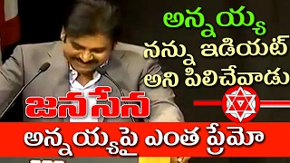 Pawan kalyan heart touching speech about chiranjeevi || janasena party meeting