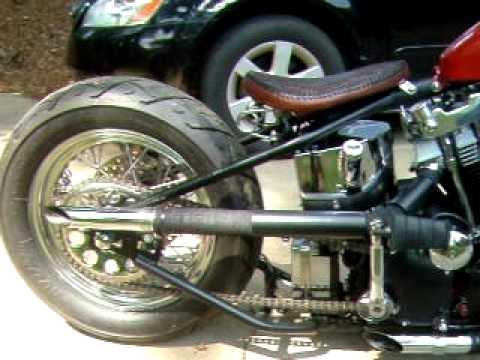 Harley Davidson ironhead sportster hardtail custom bobber 1974 walk around