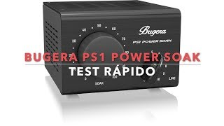 Bugera Ps1 Power Soak Test Youtube