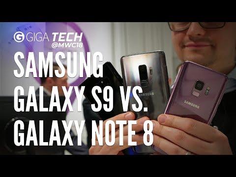 Galaxy S9 (Plus) vs. Galaxy Note 8: Das Beste von Samsung im Vergleich - GIGA.DE