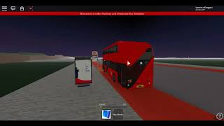 Roblox London Hackney & Limehouse bus Simulator Wrightbus NRM(euro 5) Back to Stagecoach on Route 55