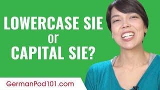Ask a German Teacher - Lowercase sie or capital Sie?
