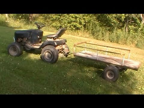 Off Road Lawn Mower With Trailer Youtube