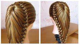 Coiffure avec tresse  Belle coiffure facile  faire cheveux long  mi long  Coiffure pour fille