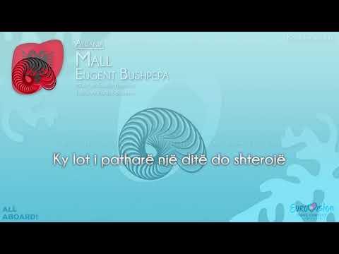 """Eugent Bushpepa - """"Mall"""" (Albania) [Karaoke version]"""