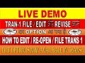 GST :Update Tran-1 || HOW TO EDIT/RE-OPEN/FILE TRANS 1 LIVE DEMO