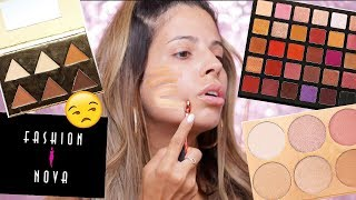 FULL FACE OF FASHION NOVA MAKEUP | IM SHOOK