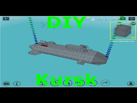 How to make the Kursk on warship craft