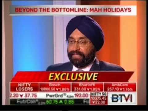 BTVI Beyond The Bottomline - Mr  Kavinder Singh MD & CEO, Mahindra Holidays