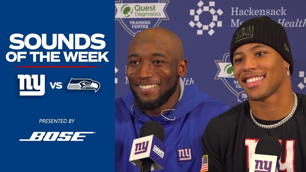"Top Sounds of the Week: Giants vs. Seahawks ""Go out there and dominate"" 