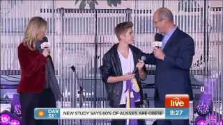 JUSTIN BIEBER - DIE IN YOUR ARMS - LIVE IN AUSTRALIA 18-7-2012
