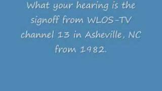 WLOS-TV Channel 13 Asheville, NC Signoff from Spring 1982