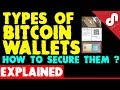 Types of Bitcoin Wallets - How to Secure a Bitcoin Wallet- How to Decide - Explained [Hindi]