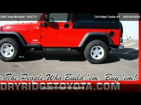 2006 jeep wrangler unlimited lwb for sale in dry ridge. Black Bedroom Furniture Sets. Home Design Ideas