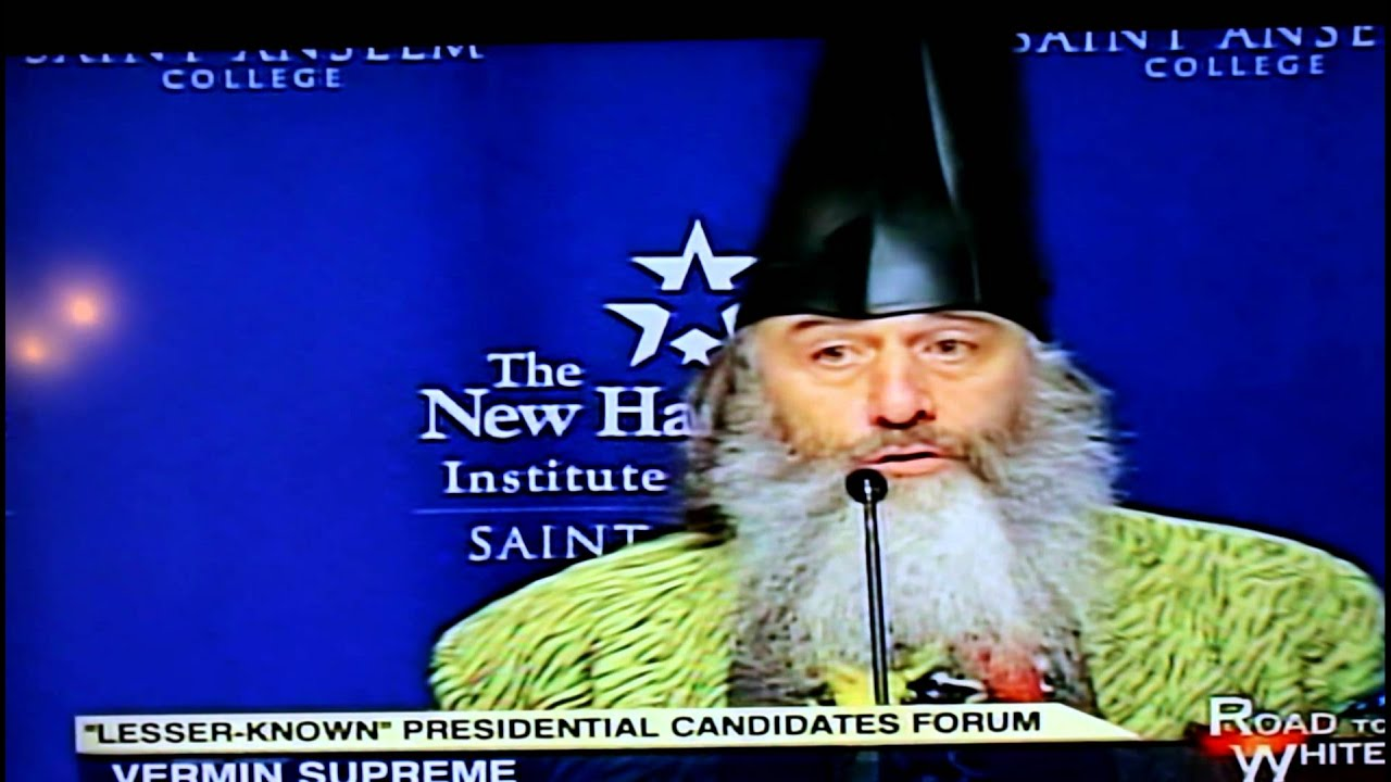 Vermin Supreme Wizard presidential candidate - YouTube