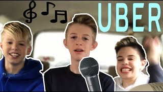 SINGING TO UBER DRIVERS 😂 w/ Carson Lueders & Rush Holland