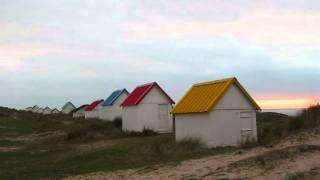 Gouville sur Mer, cabines de plage