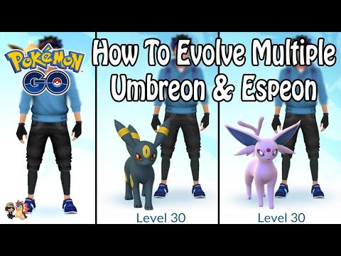 Pokémon GO | HOW TO EVOLVE MULTIPLE UMBREON AND ESPEON! (Without Name Trick)