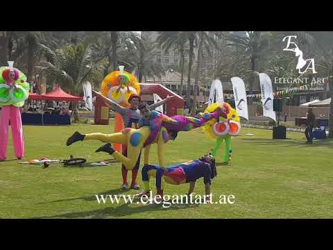 Comedy Acrobats performance in Dubai for staff day, by Elegant Art Events, UAE