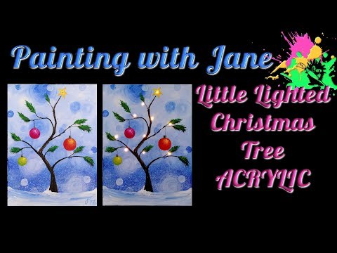 Little Christmas Tree - How to Install Lights on a Canvas Step by Step for Beginners