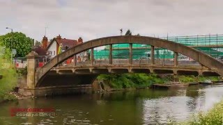 Evesham Abbey Bridge construction and demolition time lapse
