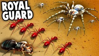GIANT Wolf SPIDERS vs HUGE Royal Red ANTS!  (Empires of the Undergrowth Gameplay - EOTU Ep 5)