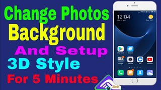 How to photo background change and 3D style
