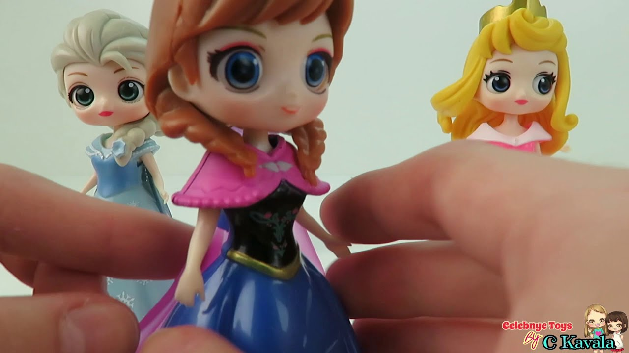 Frozen 2 Elsa and Anna Magiclip dolls vs QPosket Disney Princess Toys