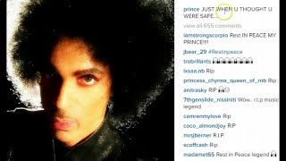 "Prince's 'Eerie' Last Instagram Message: ""Just When You Thought You Were Safe..."""