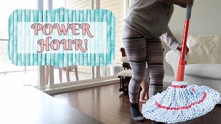 POWER HOUR YOUNG MOM | SPEED CLEANING MY HOUSE!