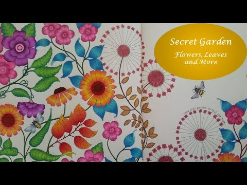 - How To : 3 Easy Ways To Color Leaves 🍃🍂 SECRET GARDEN By Johanna  Basford - YouTube