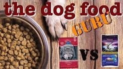 Blue Buffalo Wilderness Salmon vs Zignature dog food mashup