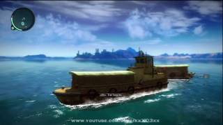 Just Cause 2 - Boats and Helicopter gameplay [HD]