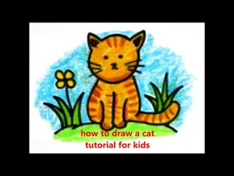 How To Draw A Cat Cara Menggambar Kucing Untuk Anak Anak Youtube