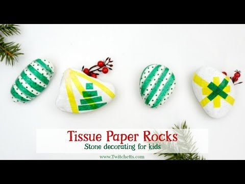 Tissue Paper Christmas Rocks Tissue Paper Crafts For Kids Youtube