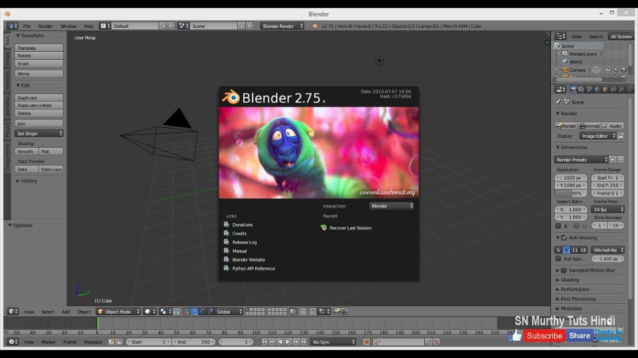 01 blender tutorial in hindi introduction free 3d for Software 3d gratis