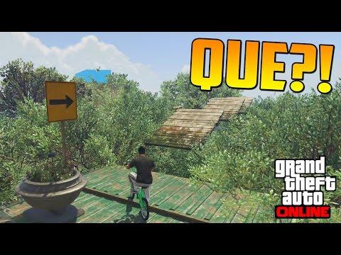 QUÉ ES ESTO?!? LA JUNGLA DE GTA 5!!  Gameplay GTA 5 Online Funny Moments Carrera GTA V PS4