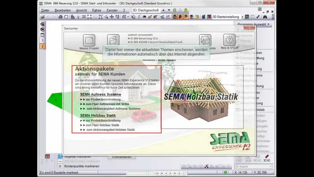 SEMA Start- und Infocenter