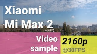 Xiaomi Mi Max 2 2160p video sample