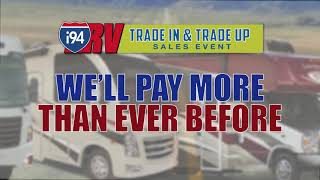 i94RV Trade In  Trade Up Sales Event - Now through April 30th